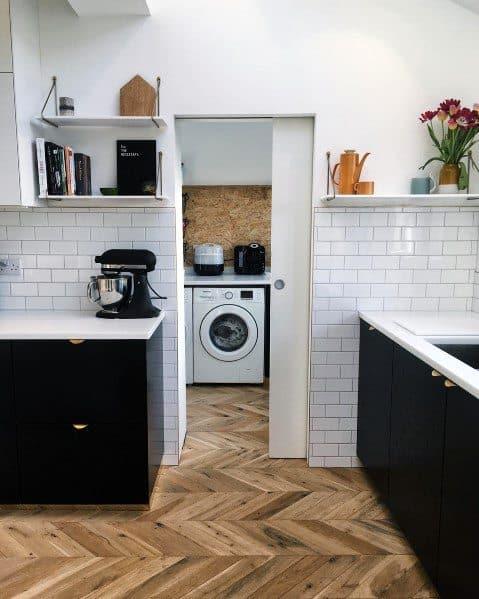Hardwood Herringbone Kitchen Flooring Ideas