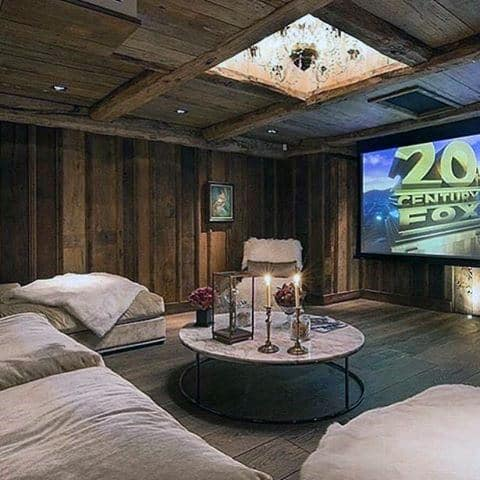 Hardwood Home Theater Design