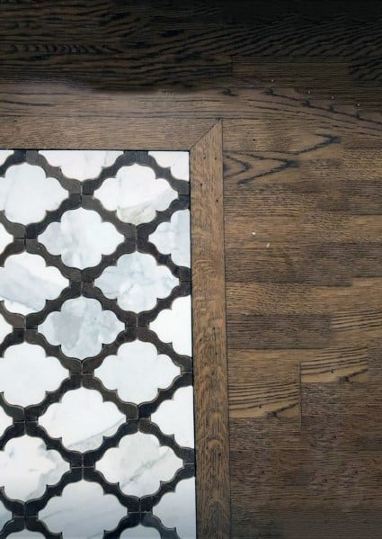 Hardwood With Entryway Tile Home Ideas