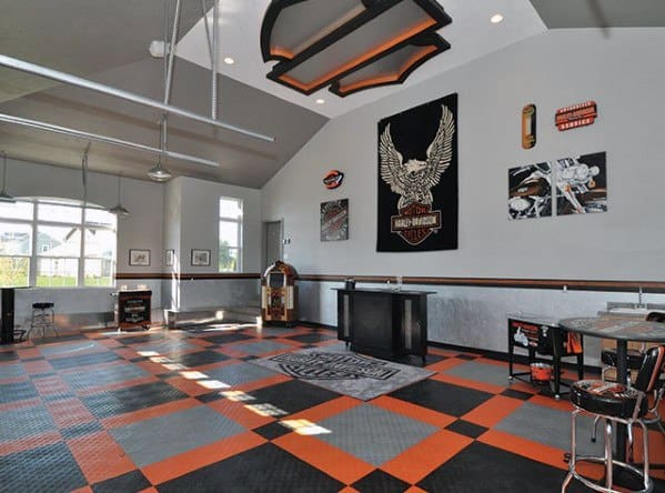 Harley Davidson Themed Garage Ceiling Ideas