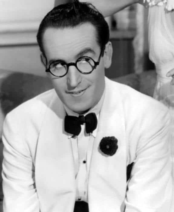 Harold Lloyd With Popular Mens 1930 Hairstyle