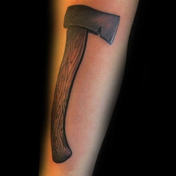 Hatchet Tattoos For Gentlemen
