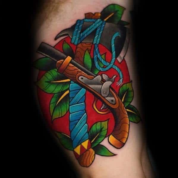 Hatchet Tattoos For Men