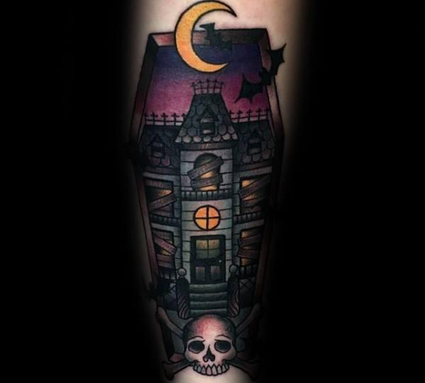 Haunted House Tattoos Men