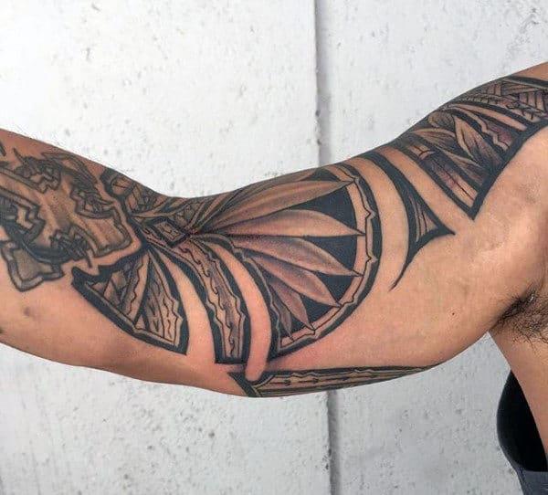 Hawaiian Bicep Tattoos For Guys