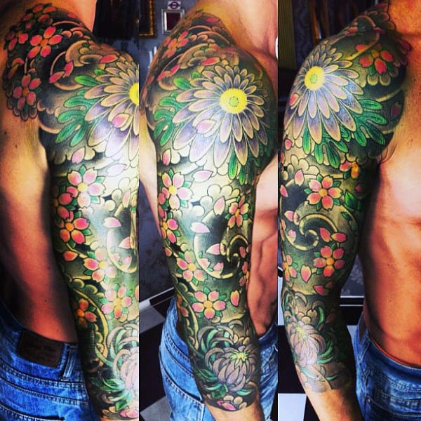Hawaiian Flower Tattoos For Men