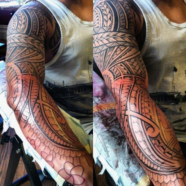 Sleeve Hawaiian Islands Men's Tattoo Designs