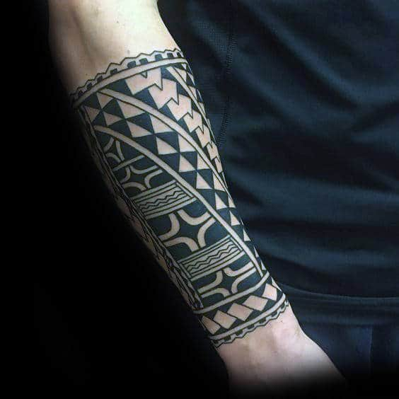 60 tribal forearm tattoos for men manly ink design ideas for Male sleeve tattoo ideas