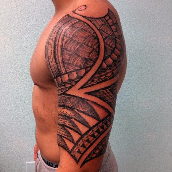 Hawaiian Polynesian Tattoo Men Sleeves