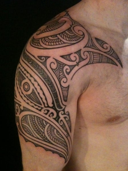 Hawaiian Polynesian Tribal Tattoo For Men