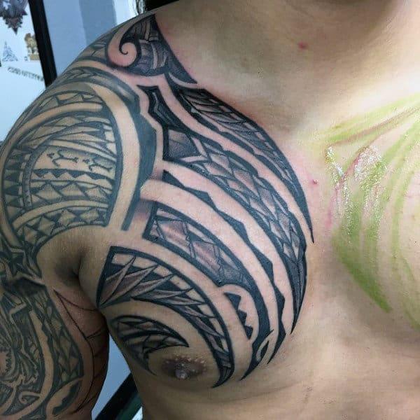 Hawaiian Sleeve Tattoo For Men