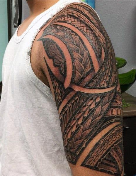 Hawaiian Style Tattoo For Men