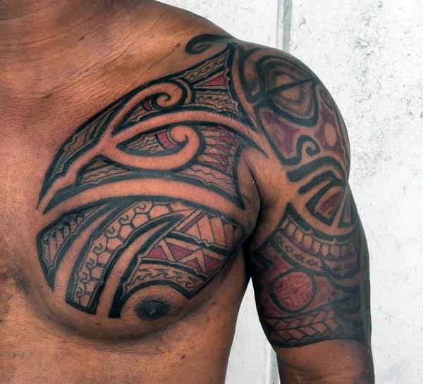 Hawaiian Tattoo Half Sleeve For Men