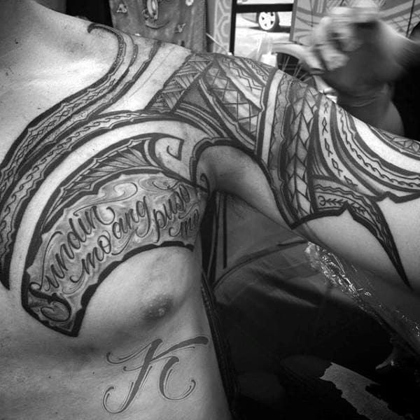 Hawaiian Tattoo Ideas For Males On Shoulder