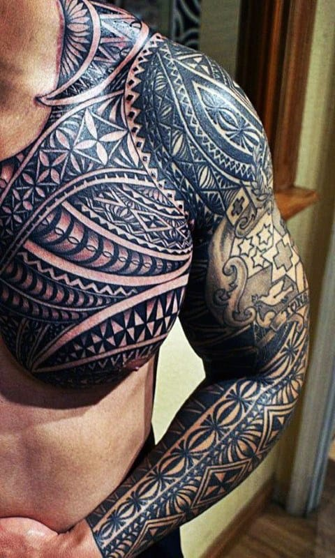 Hawaiian Themed Men's Tattoo Ideas