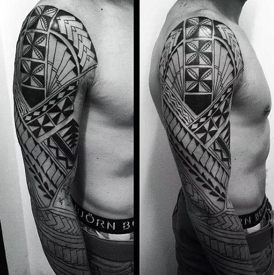 Hawaiian Tribal Mens Sleeve Tattoos