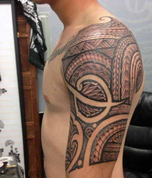 Hawaiian Warrior Tattoo For Men