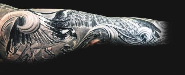 100 Hawk Tattoo Designs For Men – Masculine Bird Ink Ideas