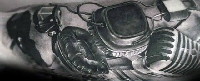 Headphones Tattoo Designs For Men