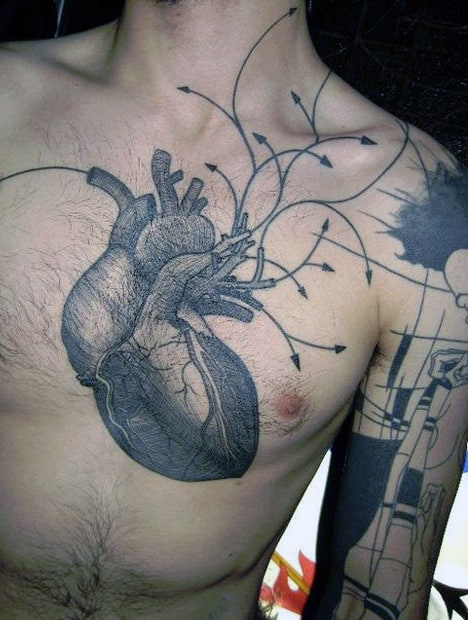 Heart Chest Tattoo