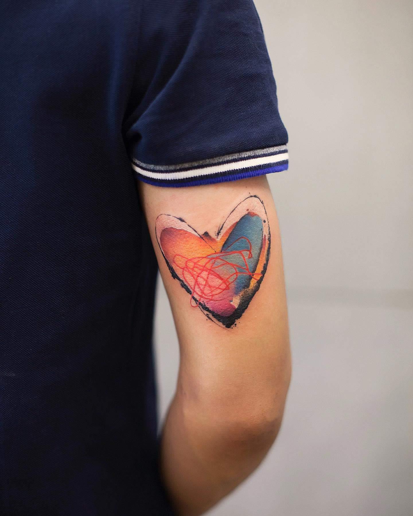 Heart Cute Tattoo Newtattoo Qiqi