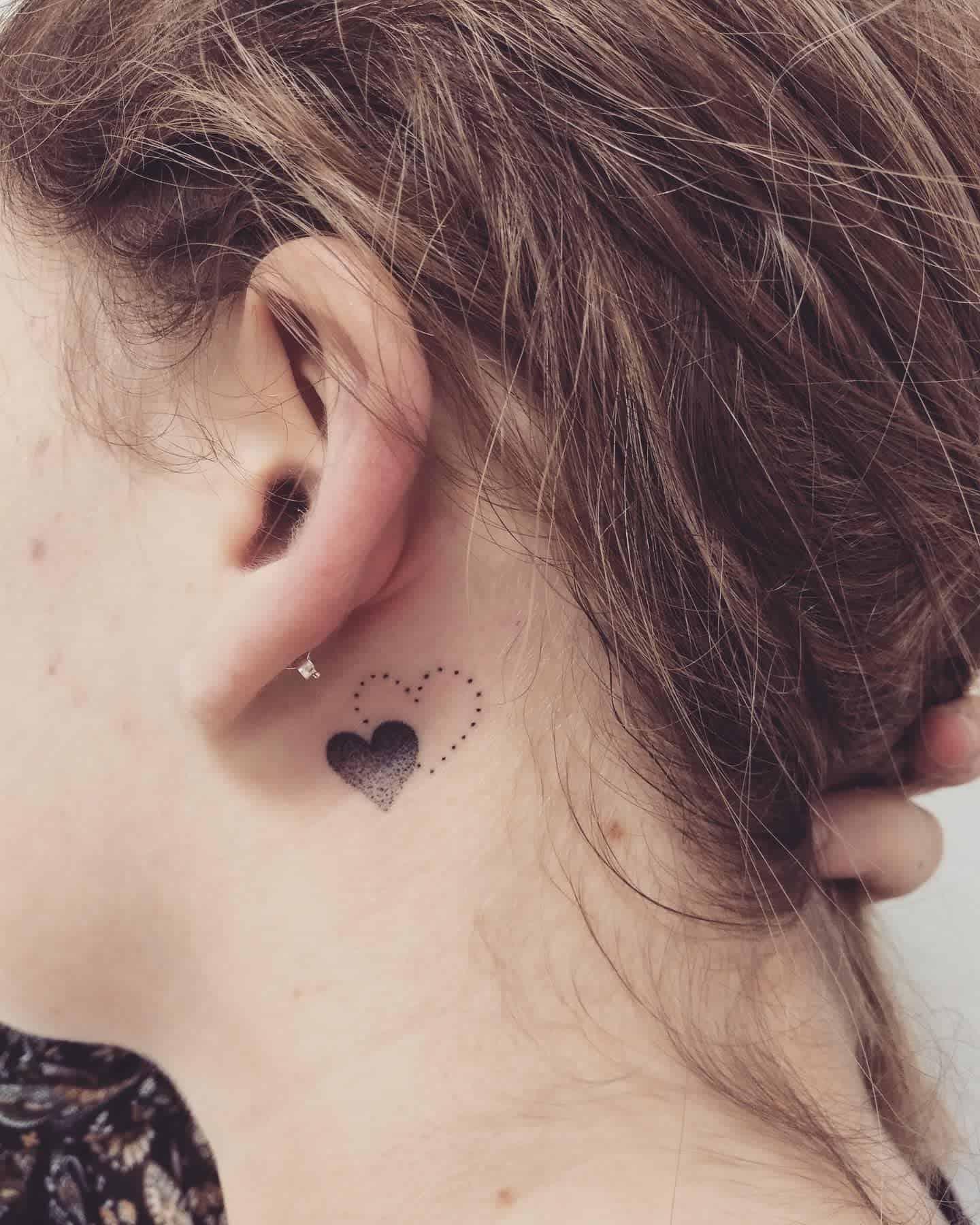 Heart Cute Tattoo Tinta Creation Tattoo