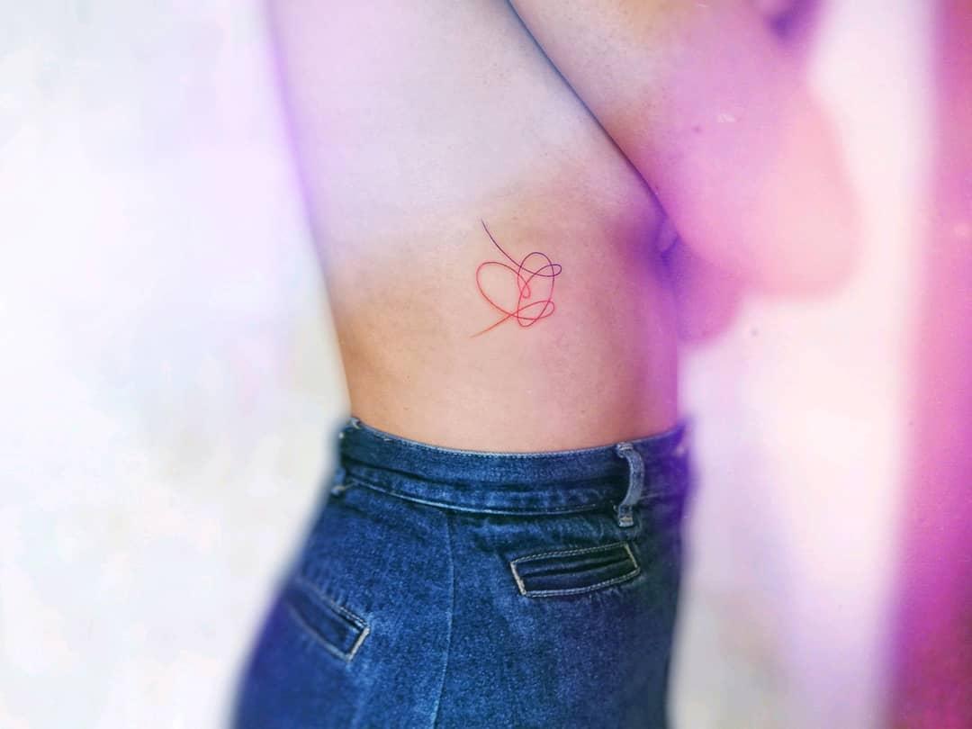 Heart Cute Tattoo Tirasilent