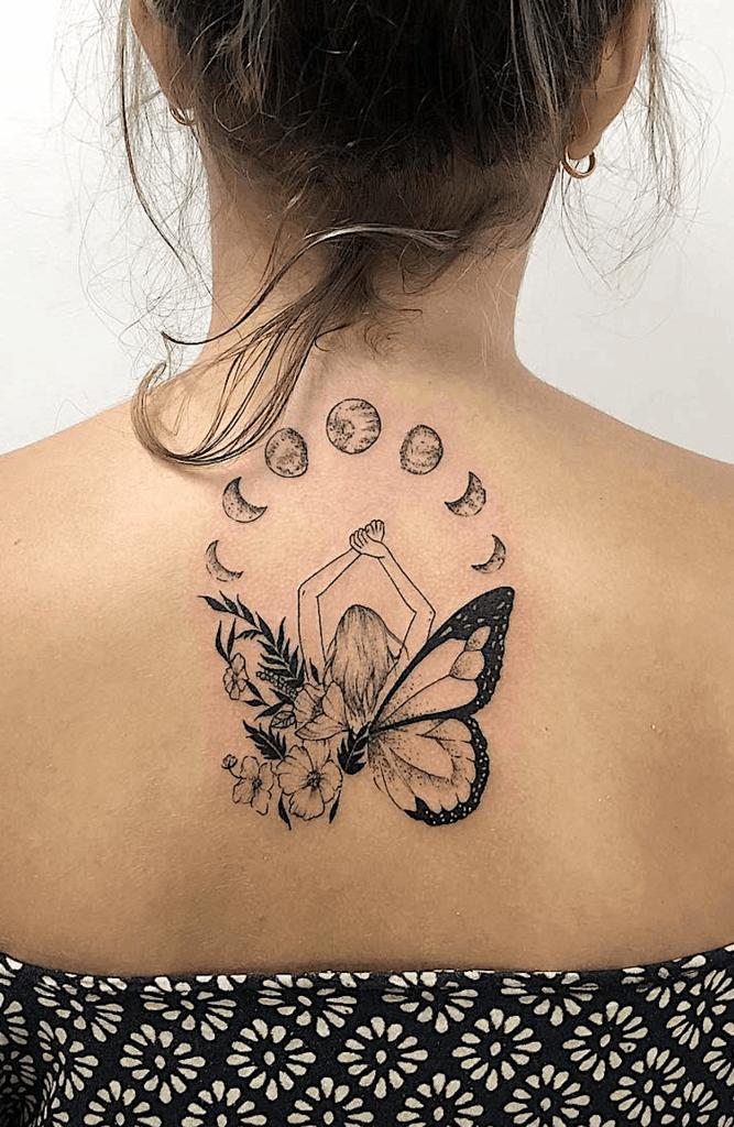 Heartbreak Moon Fairy Tattoo