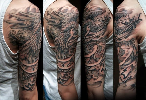 2e7e22f7770ae 50 Japanese Phoenix Tattoo Designs For Men - Mythical Ink Ideas