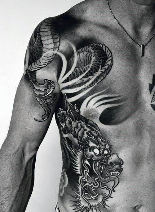 50 chinese dragon tattoo designs for men flaming ink ideas. Black Bedroom Furniture Sets. Home Design Ideas