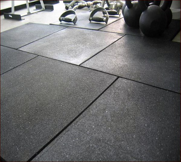 Heavy Duty Rubber Home Gym Flooring Ideas