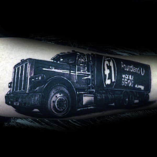 Heavy Duty Truck Guys Arm Tattoos