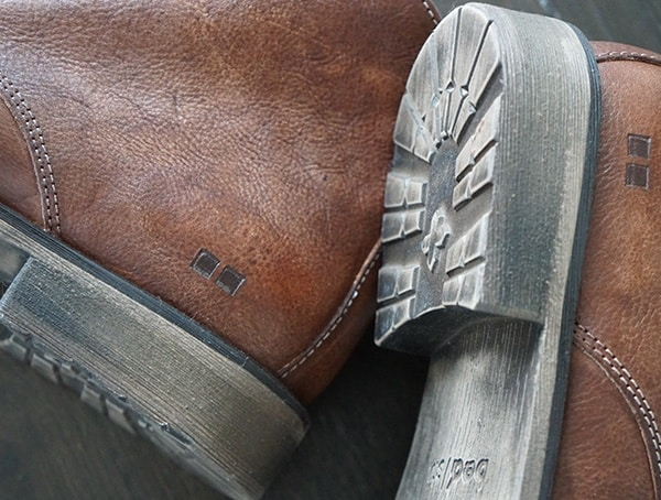 Heel Detail Mens Bed Stu The Hover Ii Boots In Teak Driftwood Leather
