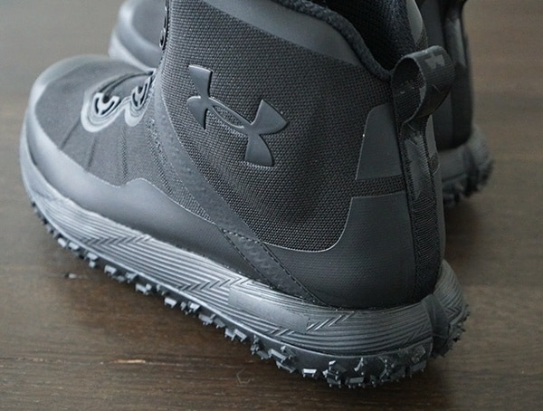 Heel Detail Under Armour Fat Tire Gore Tex Hiking Boots