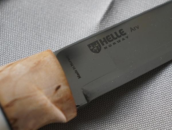 Helle Arv Knife Blade Close Up
