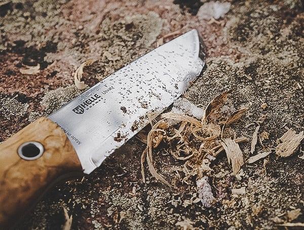 Helle Utvaer Knife Review Tinder Wood Shavings