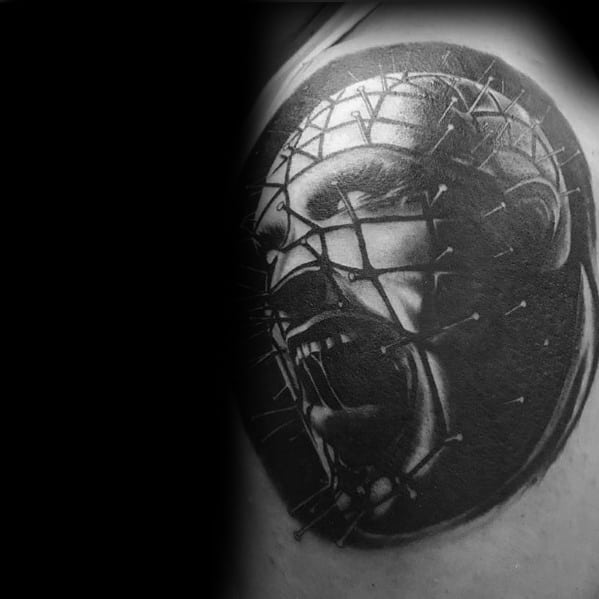 Hellraiser Tattoo Designs On Men