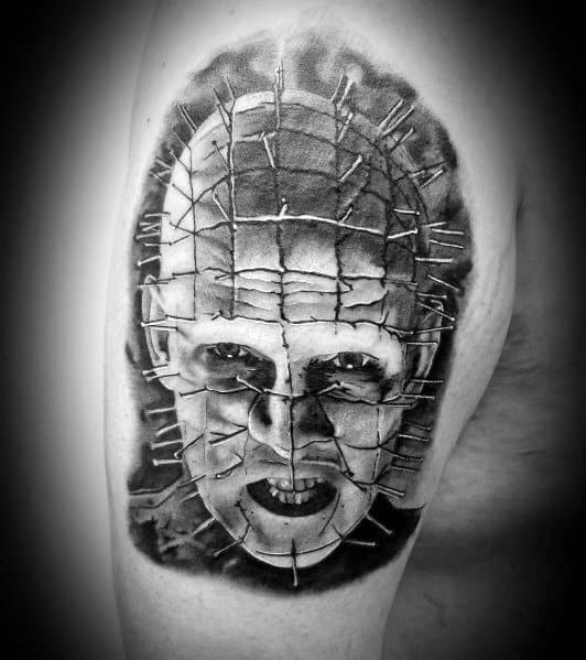 Hellraiser Tattoo On Man