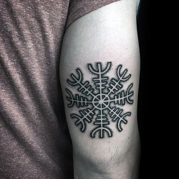 Helm Of Awe Guys Tattoos On Back Of Arm Tricep