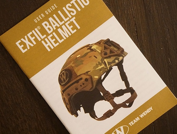 Helmet Manual Team Wendy Exfil Ballistic Sl