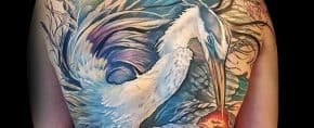 70 Heron Tattoo Designs For Men – Coastal Bird Ink Ideas