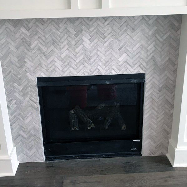 Herringbone Fireplace Tile Ideas