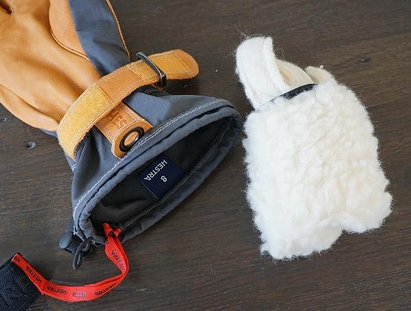 Hestra Alpine Pro Narvik Wool Insert Detail