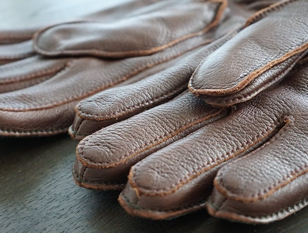 Hestra Granvik Elk Leather Gloves Detail