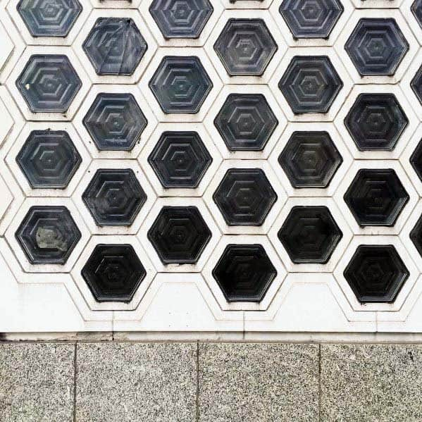 Hexagon Glass Block Cool Interior Ideas