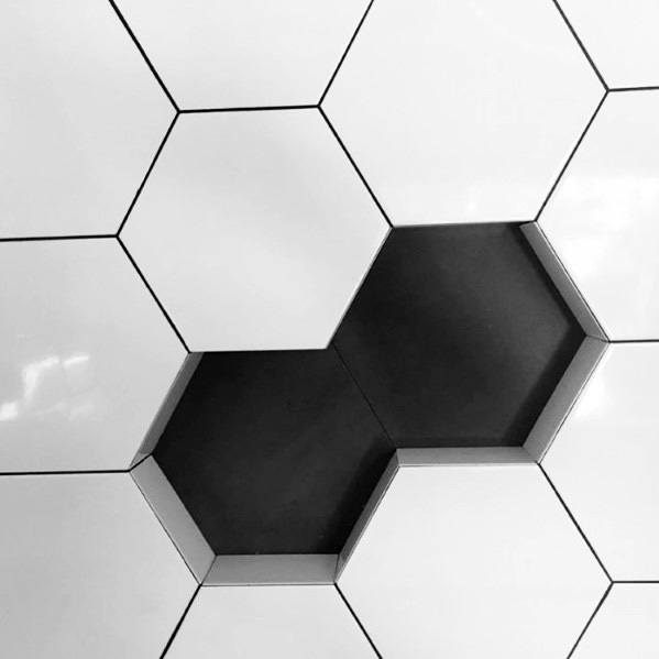 Hexagon Shaped Shower Niche Recessed Shelf Ideas