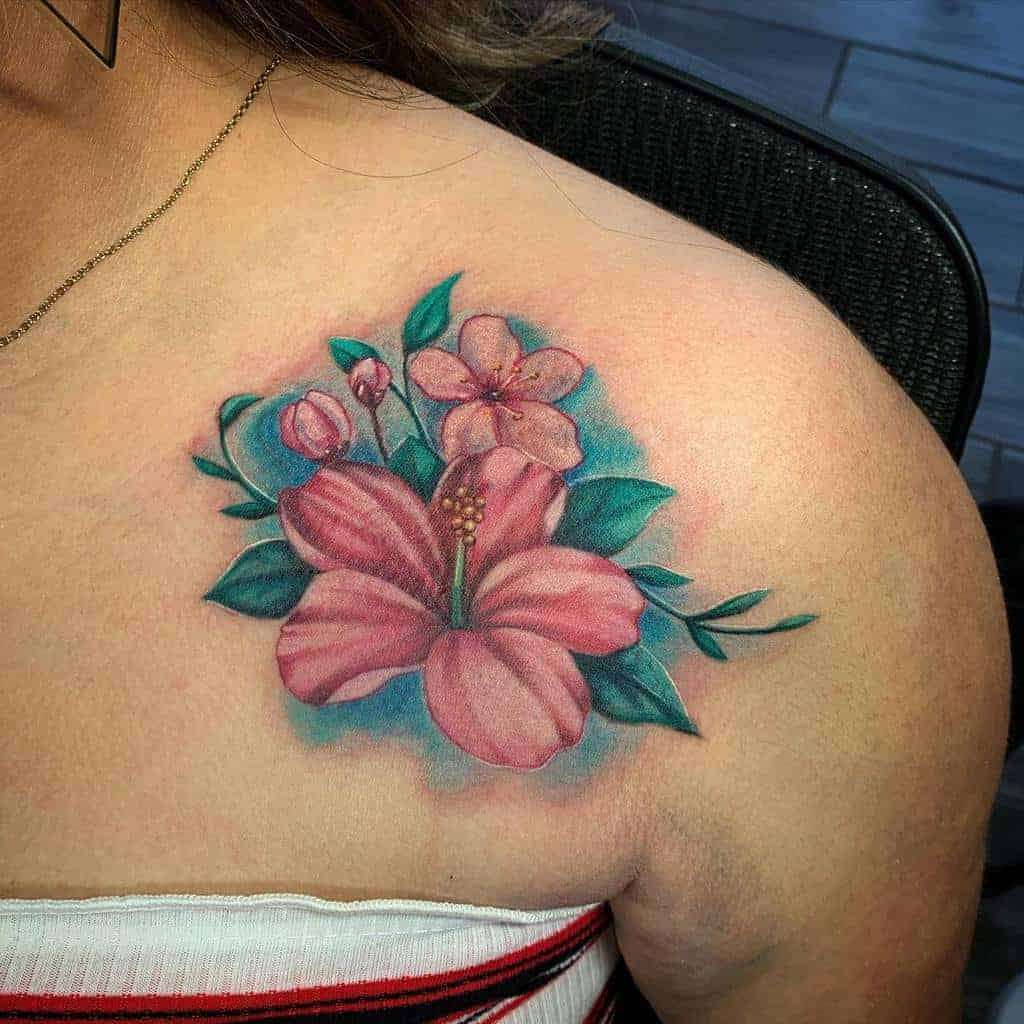 hibiscus-flower-shoulder-tattoo-alextattoo661
