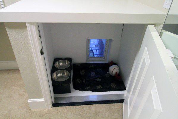 Hidden Cabinet Doggy Door Design Ideas With Gate