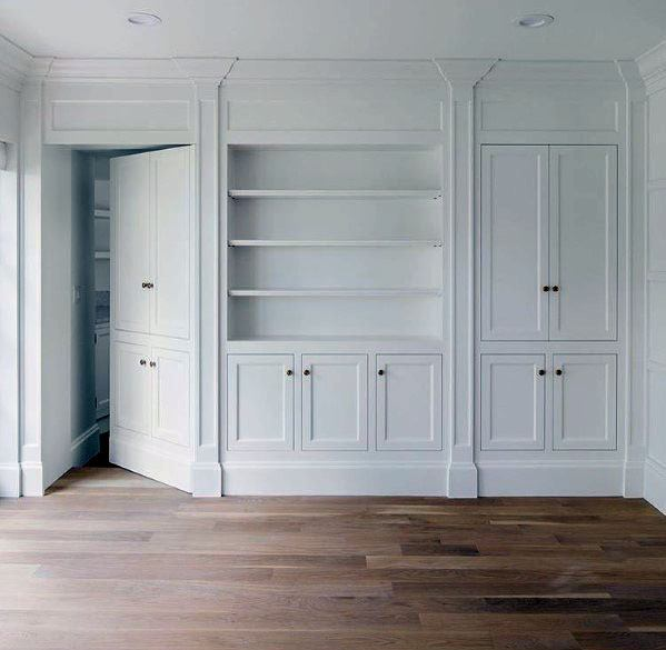 Hidden Door Design Idea Inspiration False Media Cabinet