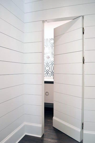 Hidden Door Hallway Cool Shiplap Wall